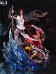 Mr. J Studio - Luffy and Shanks [PreOrder] - GK Figure - www.gkfigure.com
