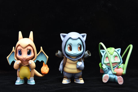 Mini Studios X Fantasy Studio - Bulbasaur Squirtle Charmander Cosplay [IN-STOCK] - GK Figure - www.gkfigure.com