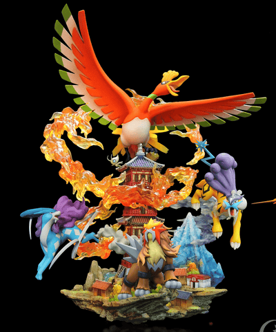 Ho-oh and the Legendary Beasts [PreOrder] - GK Figure