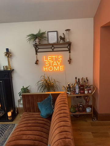 Lets Stay Home Neon Sign 50CM
