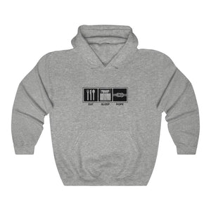 "Unisex ""Eat Sleep Rope"" Hooded Sweatshirt"