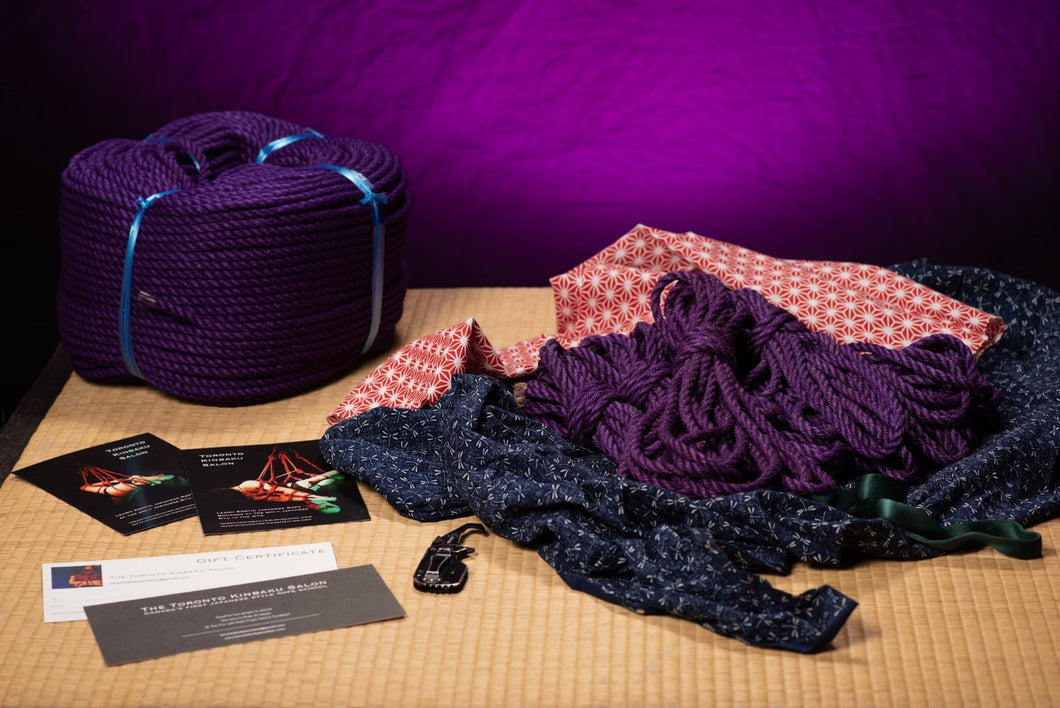 LOCKDOWN SPECIAL: Purple - Premium Japanese Jute Rope - 6 Piece Bundle
