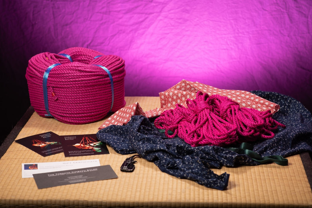 FREE SHIPPING SALE - Pink - Premium Japanese Jute Rope - 12 Piece Bundle