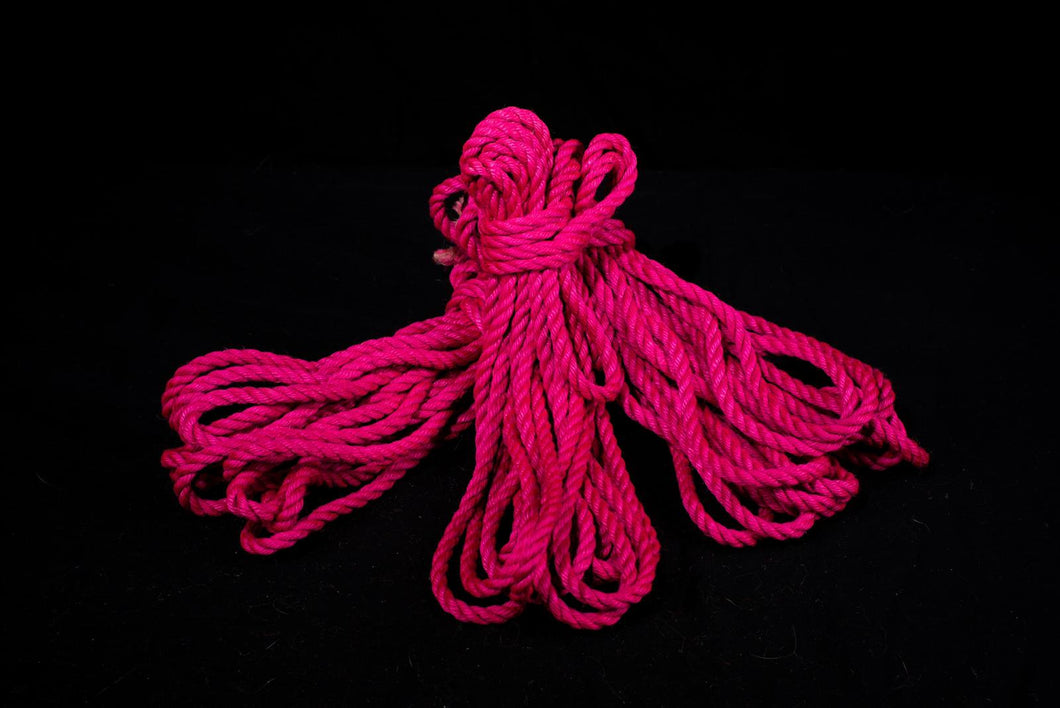 Pink - Premium Japanese Jute Rope - Single Length