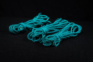 Aqua - Premium Japanese Jute Rope - 12 Piece Bundle
