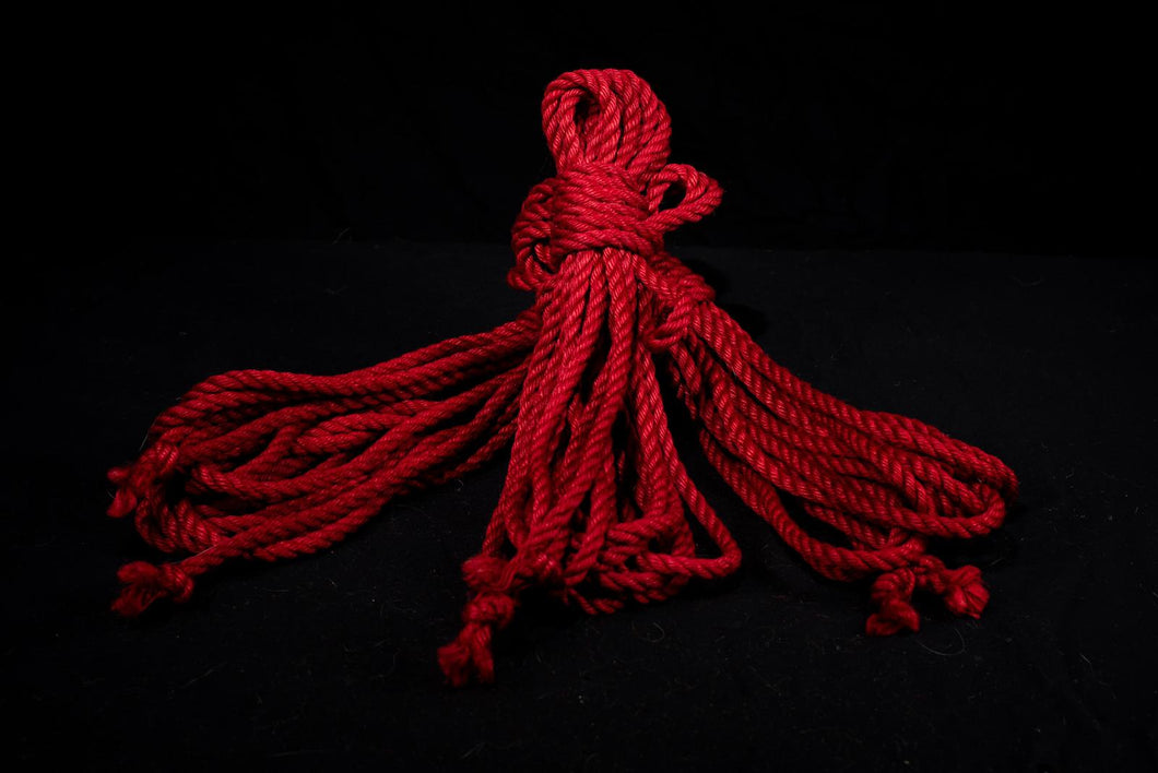 Red - Premium Japanese Jute Rope - Single Length