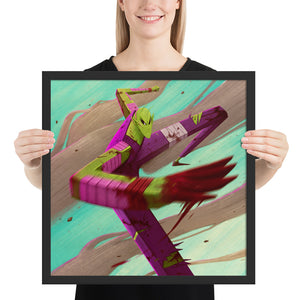 Green warrior Framed print