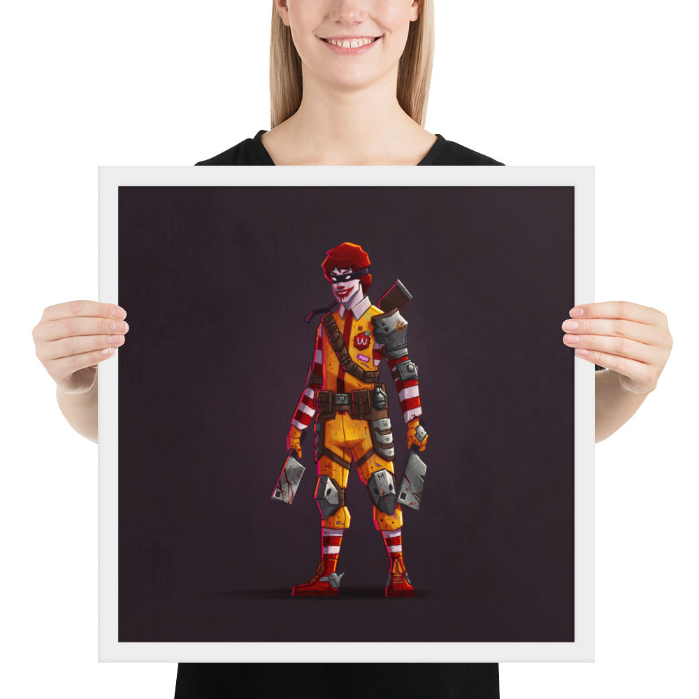 Fast food kills Framed print