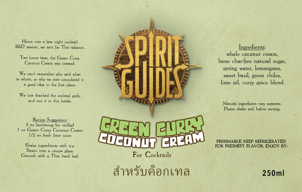 Spirit Guides Green Curry Coconut Cream | Cocktail Mixer