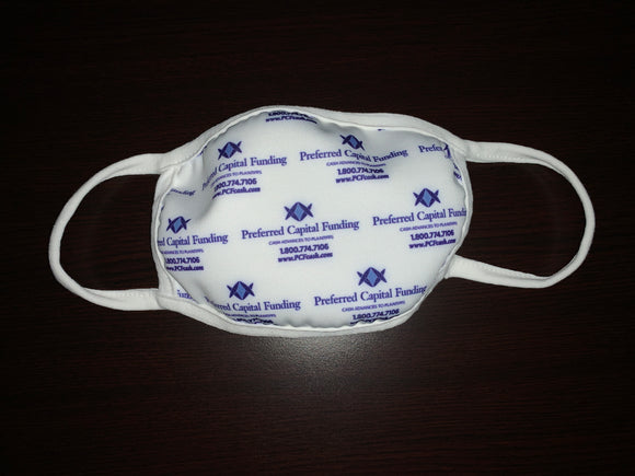 Washable - Anti - Microbial - Custom Logo or Design Face Covering ($9.00 RETAIL - $5.50/MASK FOR CRA)