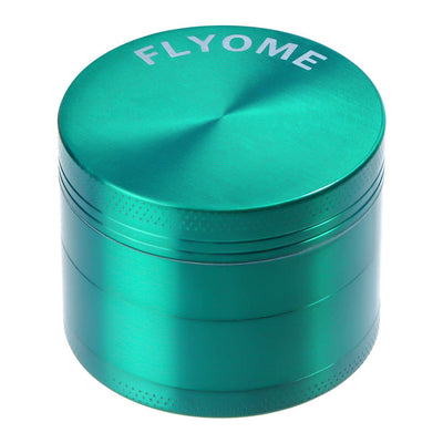2 Inch Herb Grinder with Pollen Catcher, FLYOME Large Spice Herb Mill Tools, Zinc Alloy, Green