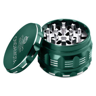 "Herb Grinder Large 4 Piece 2.5"" More Advanced for Easier, Reliable Use. Ideal for Preparing Ingredients, Nutrients, Herbs (Green)"