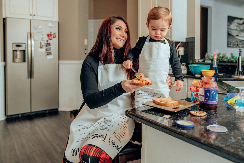 Matching Adult & Kid Aprons