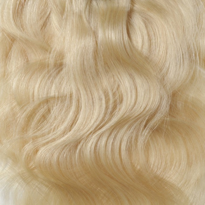 100% Brazilian Remy Body Wave Clip-Ins, #613 - 10 Pieces
