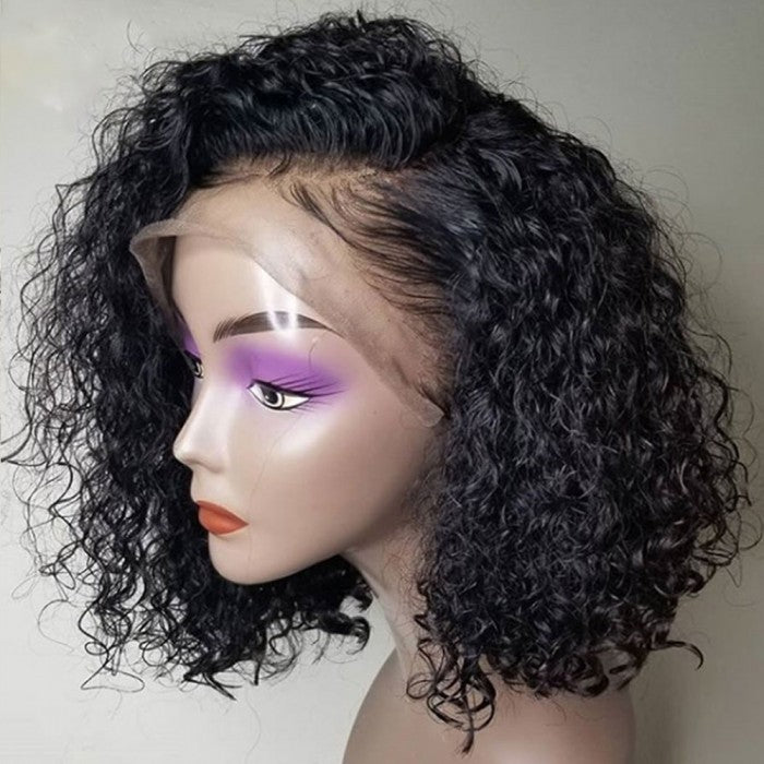 Frontal Lace Curly Bob Wig