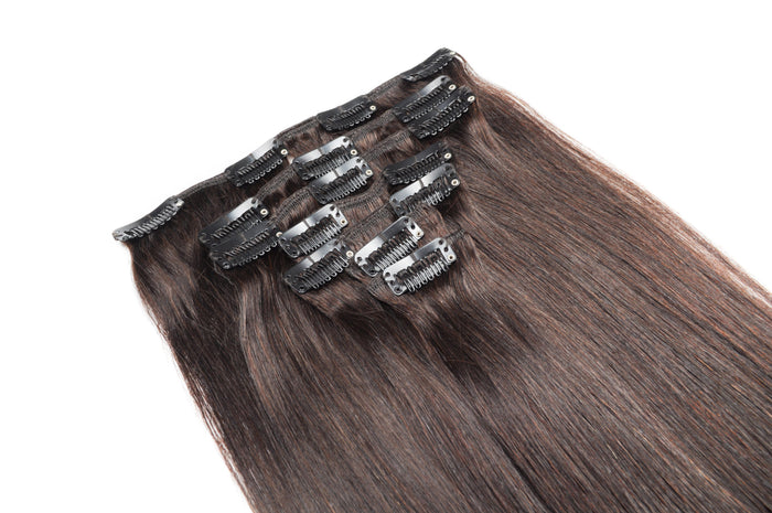 100% Brazilian Clip In Hair Extensions - Full Set