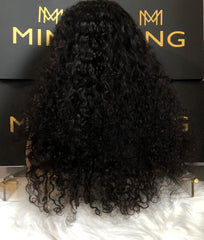 Virgin Indian Curly Frontal Lace Wig