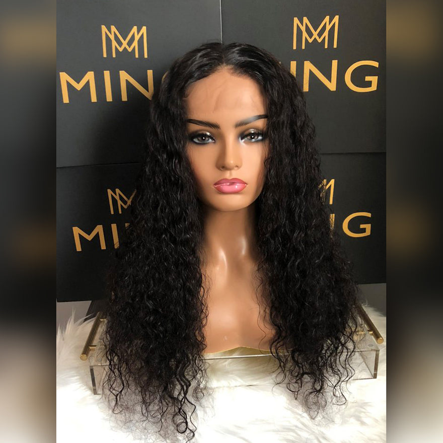 Frontal Lace Water Wavy Wig (Transparent)