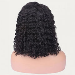 HD Undetectable Transparent Water Wavy Frontal Lace Wig