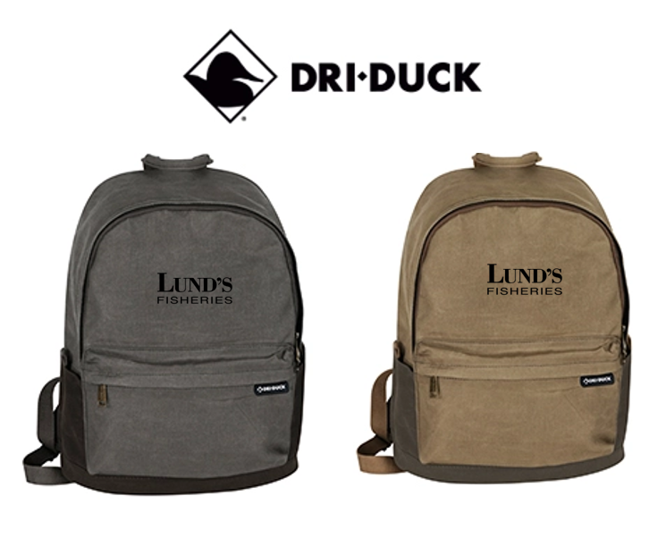 100% Waxed Cotton Canvas Backpack - LUND'S FISHERIES
