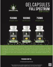 Load image into Gallery viewer, DreamWorx Botanicals CBD Gel Capsules