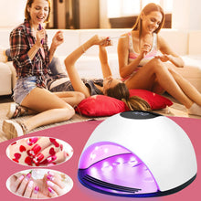 Charger l'image dans la galerie, UV Lamp Nail Dryer, Homga 72W UV LED Professional Portable Nail Light Dryer with 4 Timers 10/30/60 / 120S LCD Screen, Removable Base, Lamp UV Nails Gel For All Gels