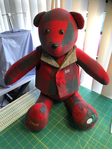 Memory Bear made from a Dads shirt