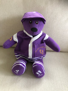 Memory Bears made from a baseball jersey