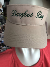 Load image into Gallery viewer, Tan visor with Green Barefoot Bay