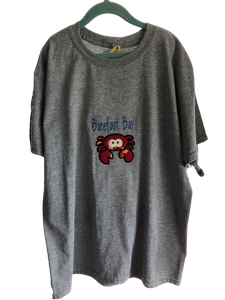 Barefoot Bay Crab XL youth fabric applique T Shirt