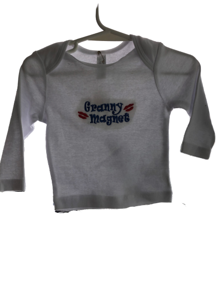 Granny Magnet long sleeved T shirt size 3-6 months