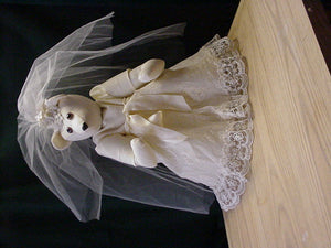 Memory Bear made from a Wedding gown