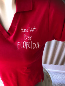 Barefoot Bay Polo Red size XS