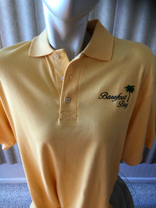 Barefoot Bay polo with palm tree  Size  Medium