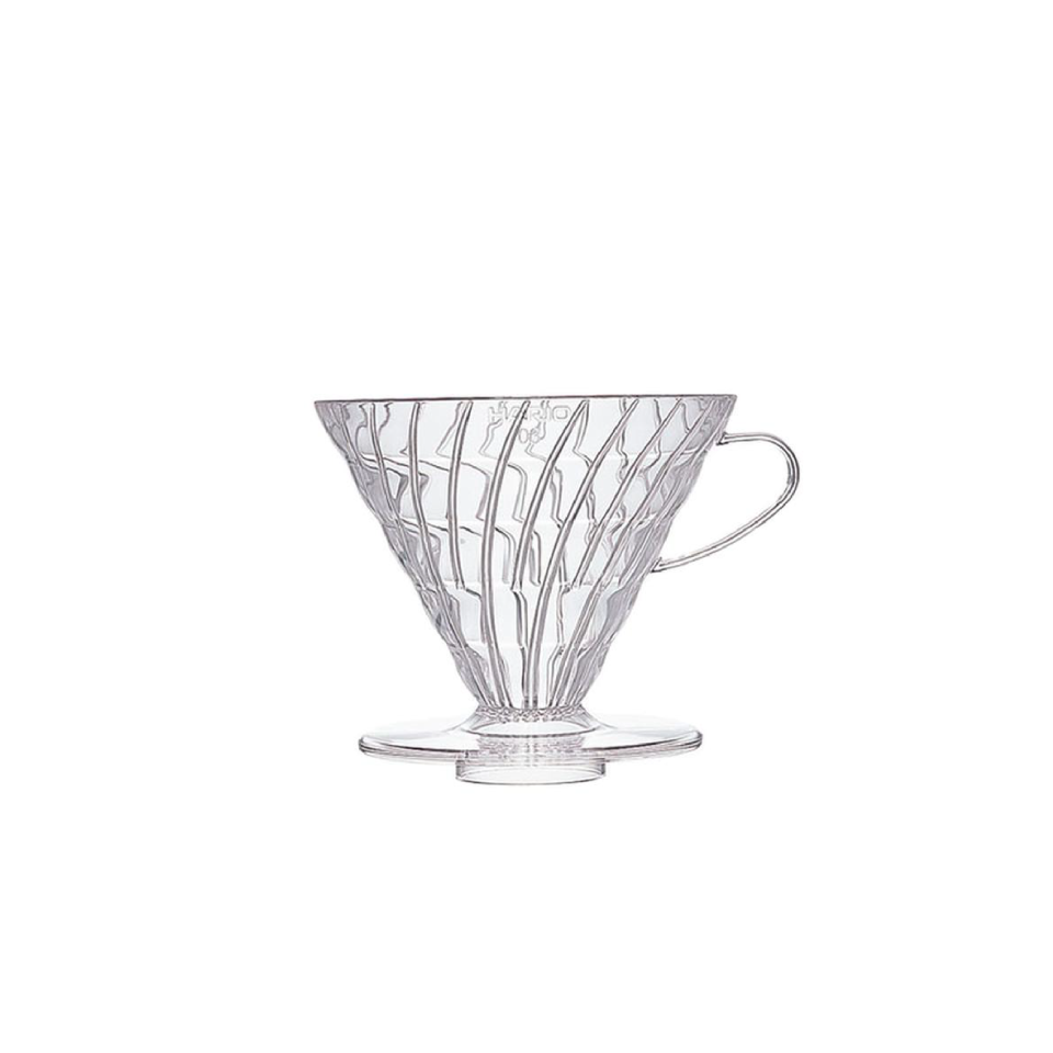 HARIO V60 POUR OVER DRIPPER - CLEAR PLASTIC