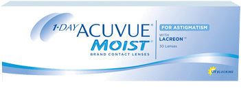 Acuvue 1-day Moist for Astigmatism - 30 Pack (-)