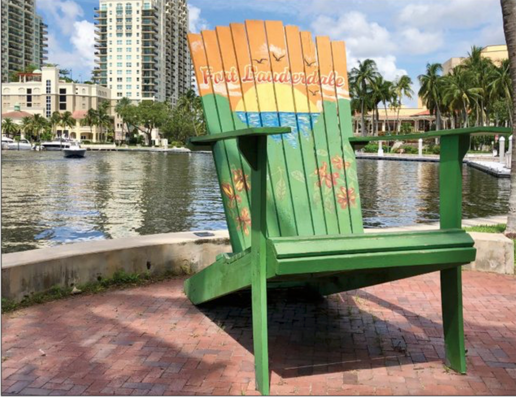 5 Fort Lauderdale Chair Greeting Cards
