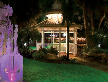 Load image into Gallery viewer, 5 Purple Night Gazebo Greeting Cards