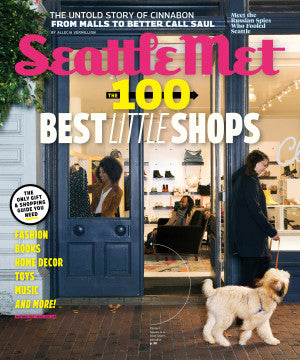 Seattle Met magazine cover with 100 Best Shops in Seattle, featuring Stock & Pantry
