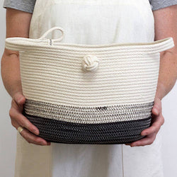 KNOTTED MAGAZINE BASKET - Stock & Pantry