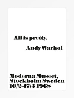 "ANDY WARHOL: ""ALL IS PRETTY""  FRAMED PRINT - Stock & Pantry"