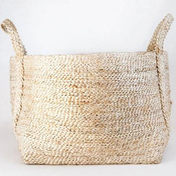 HANDWOVEN JUTE BASKET : NATURAL - Stock & Pantry