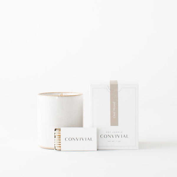 CONVIVIAL CERAMIC CANDLE - Stock & Pantry