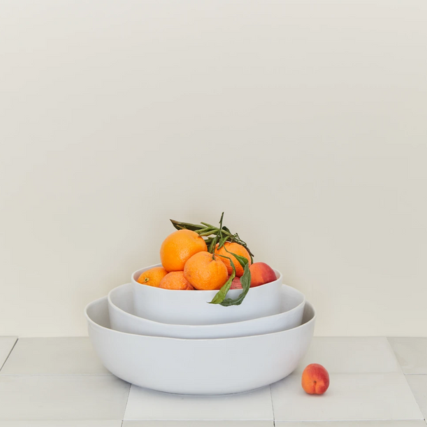 ORGANIC DINNERWARE SERVING BOWLS : WHITE - Stock & Pantry