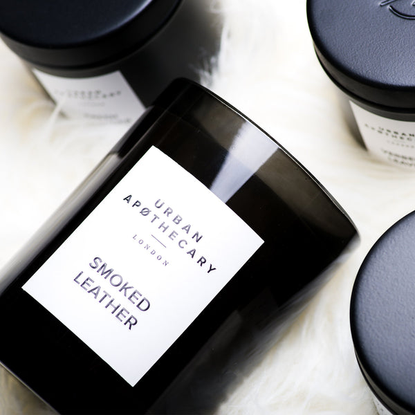 URBAN APOTHECARY LARGE SCENTED CANDLE : SMOKED LEATHER - Stock & Pantry