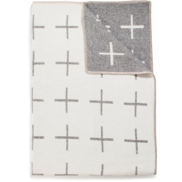 WOOL & COTTON NORDIC CROSS THROW - Stock & Pantry
