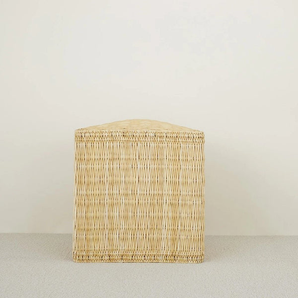 WOVEN POUF SIDE TABLE - Stock & Pantry