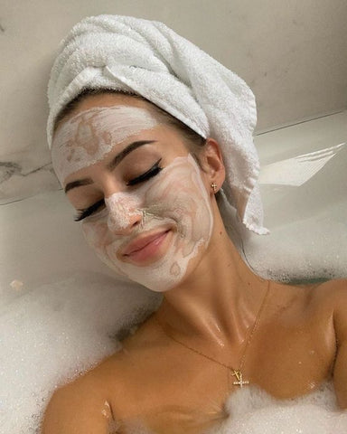 mask facial at-home selflove self-carelove yourself mental motivation
