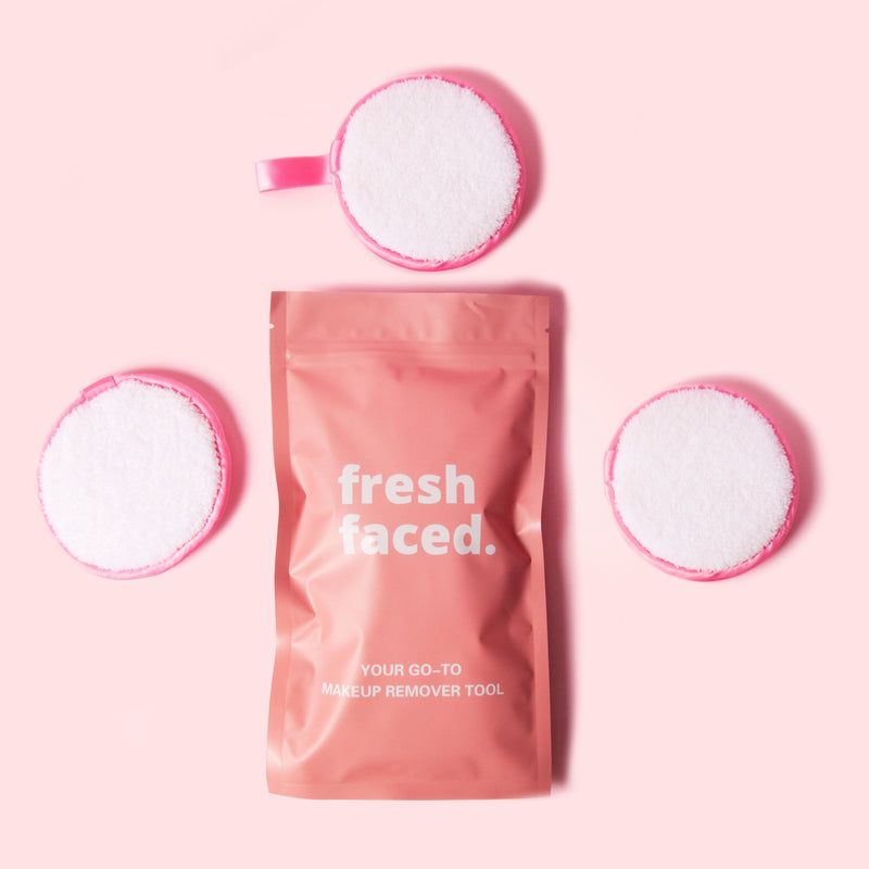 Cleanse makeup remover puff Australia beauty skincare skin healthcare Melbourne Sydney pink fresh faced