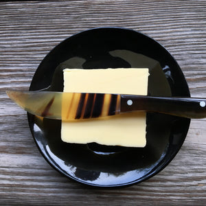 Butter knife and dish